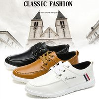 Wholesale Trend Shoes Wholesale - New Leather Men Shoes England Trend Casual Leisure Breathable For Male Loafers Business Outdoor Flat Shoes