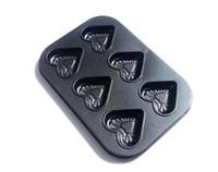 кастрюли в форме сердца оптовых-Формы сердца торт Пан 6 полости (идеальный антипригарным покрытием, FDA и lfgb стандартный)