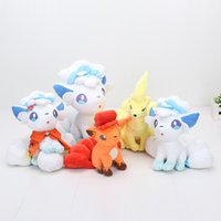Wholesale Wholesale Plush Toys Great Quality - Vulpix Plush Pocket doll Ninetales Alola Vulpix Stuffed Soft Dolls Toys Great Gift High Quality 15-27cm