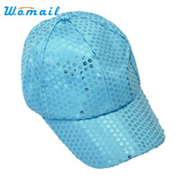 Wholesale Sequin Hats Caps - Wholesale- Womail New Fashion Bling Bling Sequins Baseball Cap Men Women Sun hats Sep4 Drop Shipping