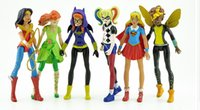 Wholesale Dc Comics Action Figures Wholesale - 6pcs DC Comics Super Hero Girls Harley Quinn Batgirl Kid Action Figures Doll Toy