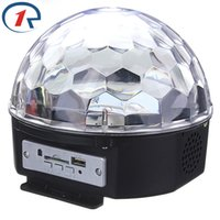 Wholesale Music Magic Led - Wholesale- ZjRight Music Crystal Magic Ball RGB 6W*3 LED Stage Light Disco Nightclub Party Strobe Lights DJ Lighting with Remote