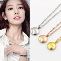 Wholesale Lucky Brand Necklaces - Top Quality 316L Titanium steelJewelry Small Round Printed LUCKY Pendant Luxury brand Women Charm Necklace Woman and girl PS4011