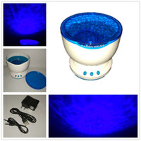 Wholesale Led Ocean Lamp - Wholesale- 2017 LED Ocean Projector Lamp Night Atmosphere Lights Blue Sea Waves Projector With Mini Speaker Kids Favorite Sweet Soft Lights
