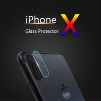 Wholesale Mobile Phone Screen Glass Lens - Screen Protector for Mobile Phone Camera Lens for iPhone X 8 Tempered Glass Film Anti-scratch for iPhone 7
