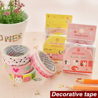 Wholesale Lace Lovely Adhesive Sticker - Wholesale- 2016 Boxed Lovely tape PVC Lace Masking tapes Decorative adhesive scrapbooking stickers articulos de papeleria School supplies