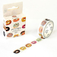 Wholesale New Scrapbooking Supplies - Wholesale- 2016 1Box New The Delicious Donut Decorative Washi Tape Diy Scrapbooking Masking Tape School Office Supply Escolar Papelaria