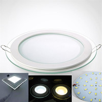 Glas eingebettete LED-Panel-Lichter Thin SMD5730 LED-Decken-Panel-Lampe 6W 12W 18W 24W LED-Panels für Küche AC85-265V CE RoHS FCC