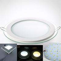 LED LED Glass de 12W cocina AC85 CE para FCC Panel LED 6W 18W RoHS luces del Embedded techo 265V panel lámpara 24W SMD5730 la paneles Thin 29EHWYID
