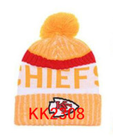Wholesale Chief Skull - New Fashion Unisex Kansas City KC Winter Chiefs Hats for Men women Knitted Beanie Wool Hat Man Knit Bonnet Beanie Gorro Warm Cap