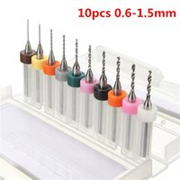Wholesale Carbide Burr Drill - 10pcs 0.6-1.5mm Carbide PCB Drill Bit Set Engraving CNC PCB Bits for Rotary Burrs