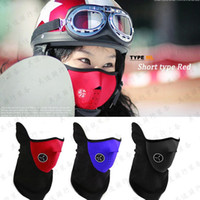 Wholesale Motocycle Covers - Wholesale Protective Mask Outdoor Dustproof Windproof Ski Motocycle Cover Neck Bandana Bike Cold Cycling Half Face Mask CS Game Masks