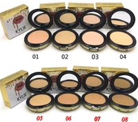 Wholesale Fix Cream - kylie jenner face power Kylie face powder profession makeup Studio Fix Powder Plus Foundation press make up face powder 8 colors In stock