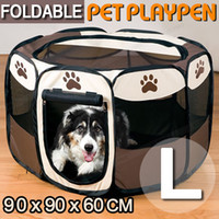 8 Panneau Portable Puppy Dog Pet Cat Intérieur Outdoor Playpen Crate Cage Kennel
