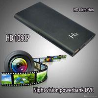 Wholesale Thinnest Spy Camera - Ultra-thin H2 500MAH Power Bank 1920*1080P SPY Hidden Camera Camcorder DVR Night Vision Video Recorder 5.0 MP Spy Battery Camera Mini DV