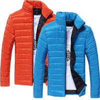 Wholesale Mens Jackets Wholesalers - Wholesale- 2017 Mens Winter Long Sleeve Solid Winter Coats Pocket Fashion Solid Slim fit Jacket