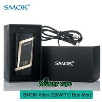 Wholesale T H Wholesale - Original Smok Alien TC Box Mod 220W Mod Extra Large OLED Screen VS Smok T-PRIV H-priv Mini Vape Mod E Cigs