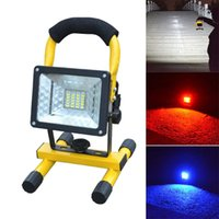 Wholesale Battery Work Lamp - Wholesale-Hot Sale Waterproof IP65 30W 24 LED Flood Light Portable Outdoor Emergency Lamp Work Light