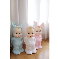 Wholesale Vintage Baby Dolls - Ins Hot Baby Room Decoration Vintage Rabbit Baby Doll Toy Cute Cartoon Night Light Kids Birthday Gift