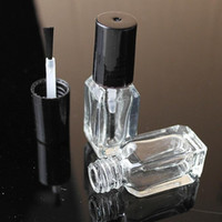 Wholesale nail polish bottles wholesale - 4ml Transparent Glass Nail Polish Bottle Makeup Tool Polish Empty Cosmetic Containers Nail Glass Bottle with Brush