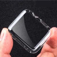 carcasa para s3 al por mayor-Clear Hard Case Case Ultra Thin (0.5) Funda de cuerpo completo para Apple iwatch smart Watch S4 S2 S3 38 40 42 44 MM funda protectora Shell GSZ207