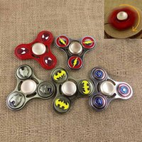 Wholesale Zinc alloy the avengers Super Hero Captain America Fidget Hand Spinners Spiderman Superman Iron Flash hand spinners
