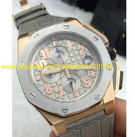 Wholesale Mens Watch Brands List - New Listing Classic Design Top Quality Brand Rose Gold Quartz Chronograph Mens Date Sports Smoke Grey Men's Wrist Watches Leather Strap