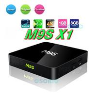Wholesale android tv box otg online - M9S X1 Android Smart TV Box Amlogic S905X Quad Core G G Mini PC Wifi K H OTG Media Player D Home Movie Set Top Box