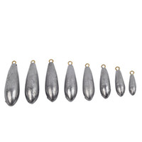 Wholesale Wholesale Lead Sinkers - 5PCS Lot Weight Size 10g 20g 30g 40g 50g 60g 70g 80g water droplets lead weights fishing lead sinkers fishing accessories GYH