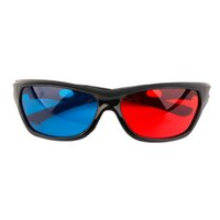 Wholesale plastic anaglyph 3d glasses - Frame Universal D Plastic glasses Oculos Red Blue Cyan D glass Anaglyph D Movie Game DVD vision cinema