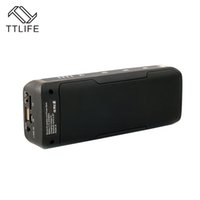 Atacado- TTLIFE J6 Multifuncional Wireless Wireless Speaker Bluetooth 6W Stereo Power Bank Rádio FM Caixa de Som Home Theater Party Speaker