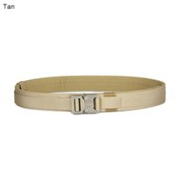 Wholesale Nylon Belts Plastic Buckles - New Arrival Tactical Tan Green Color Belts Men Nylon Belts for Outdoor Wargame CS Hunting Accessary CL11-0015