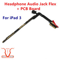 Wholesale Iphone 3g Audio Cable - Headphone Audio Jack Flex Cable With PCB Board For iPad 3 3rd Generation Replacement Fix Parts Wifi and 3G Version DHL Free Shipping