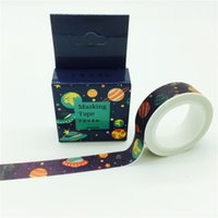 paper spacing tape - GREENHOW DIY paper masking washi tapes Space travel decorative Adhesive tapes scrapbooking School Suppliese Size mm m