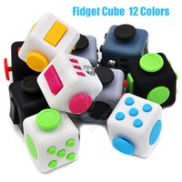Wholesale Eva Cube - 2017 New Fidget cube Popular Toy magic decompression anxiety hand spinner stress relief Portable anti irritability 12 Colors Retail Box DHL