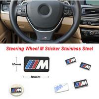 ingrosso tiida emblema-Nuovo Adesivo volante in acciaio inox M Performance M Emblema in tutto il corpo multifunzione per BMW F30 F20 F10 M3 M5 M6 M7 X5 X6