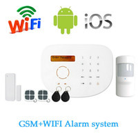 Wholesale Alarm Control Panels Wireless - S2G Wireless GSM Alarm system with WIFI Function SIM SMS support APP Control LCD display and Touch panel RFID Card For Free Shipping