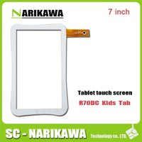 """Wholesale Screen Star Replacement - Wholesale- New Touch Screen For 7"""" TurboKids star s2 Tablet Touch Sensor ZHC-Q8-057A Replacement Free Shipping"""