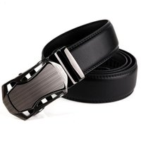 Wholesale Wholesale Leather Belts For Men - 2017 Automatic Buckle Cowhide Leather men belt Fashion Luxury belts for men designer belts men high quality New Designer