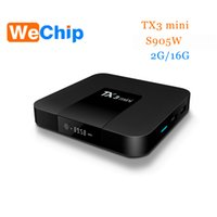Wholesale Os Media Player - Android tv box TX3 Mini 7.1 OS Amlogic S905W 2G 16G KDPlayer 17.3 Media Players Better V88 X96