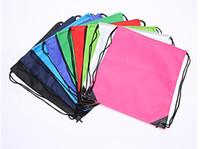 Wholesale Waterproof Drawstring Backpacks - Simple solid color waterproof bags rope drawstring shoulders beam bags sports backpack swimming bags free shipping