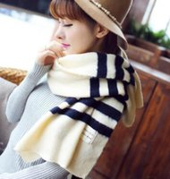 Wholesale Red Christmas Shawl - New recommend women fashion outdoor warm stripes scarves men winter imitation cashmere designer scarf brands Christmas gift shawl wholesale