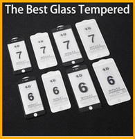 Wholesale Iphone 5pcs - 2017 New Full Cover 4D Tempered Glass For iPhone 7 Plus 6 6S CARVING Curved Edge Screen Protector Film 1pcs 5pcs