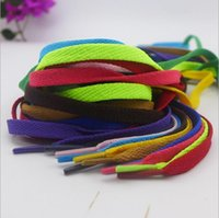 Wholesale Multicolor Yarns - Shoelace Outdoor Sports Hiking Slip Flat Rope Bootlaces Shoe Laces Strings MultiColor free shipping
