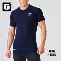 Wholesale Hooded Singlets - Wholesale- NEW 2016 Gymshark Stringer t shirt Top Men Gymshark Bodybuilding and Fitness Men Singlets gold Shirts Clothes