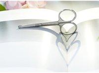 Wholesale Imported Scissor - Portable eyebrow scissors, vibrissae false eyelashes eyebrow, Imported stainless steel iron box