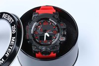 Wholesale christmas led gift boxes - New relogio GWG 1000 men's sports watches with box G LED chronograph wristwatch military watch good gift for men & boy dropship