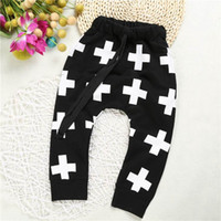 Wholesale Trousers Classical - Retail Boy Pants Classical Cross Plus Cotton Terry Casual Children Long Length Trousers Harem Pants Kids Clothes SKK-080