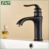 Wholesale China Taps - FLG Luxury Bathroom Faucet Oil Bronze Black Faucet From China Manufacturer Grohe Faucet Deck Mounted Cold&Hot Taps M043