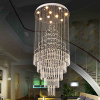 Wholesale Pendant Led Fixture - LED Pendant Light Art Design Living Room Dining Room Chandeliers Light K9 Crystal Fixtures AC110-240V Crystal Ceiling Lamps VALLKIN Lighting